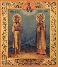 Икона Мария Египетская и Алексий человек Божий мученики