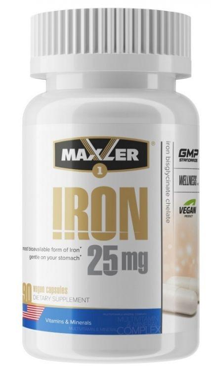 Железо Iron 25 mg Maxler (90 вег кап)