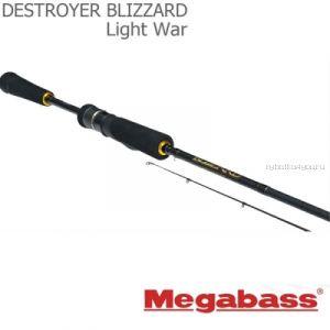 Спиннинговое удилище Megabass Blizzard Light War 2,25 м / тест  1,2-7 гр / 3-6Lb(Артикул: BLWS742ULXF)