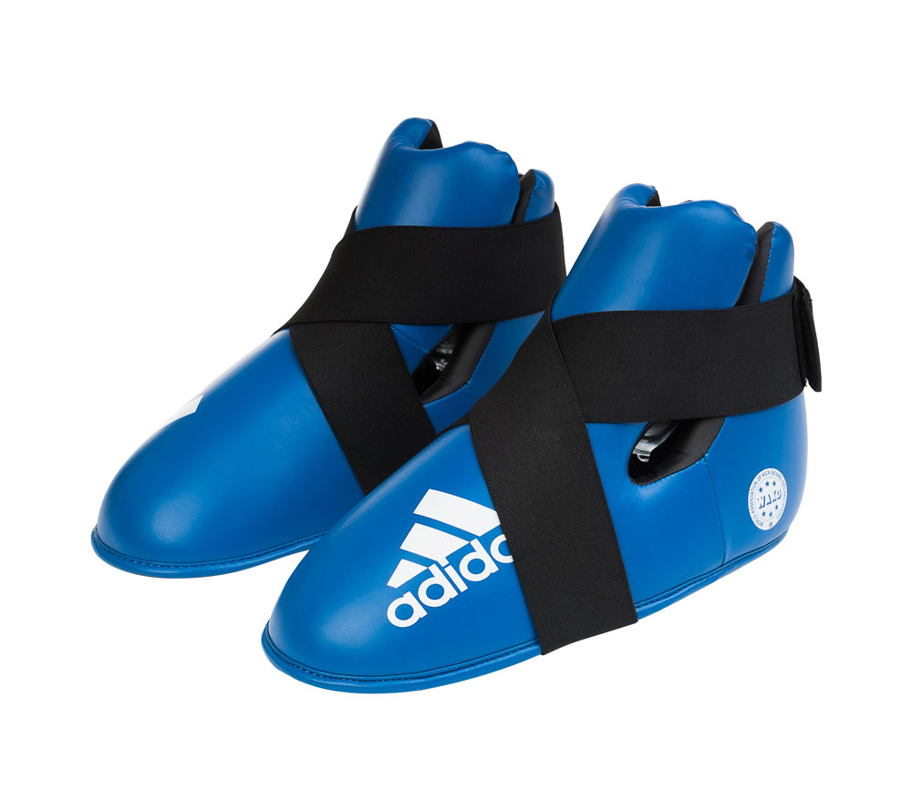 Защита стопы (футы), Adidas  WAKO Kickboxing Safety Boots синяя, размер L, артикул adiWAKOB01