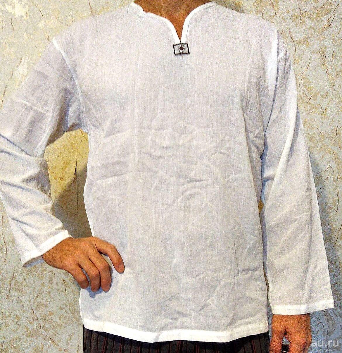 Тайская рубашка хлопковая с длинным рукавом 1 шт