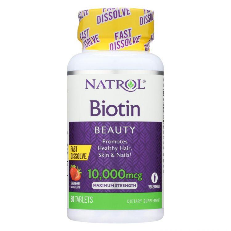 Biotin 10000 mcg Fast Dissolve Natrol (60 таб)
