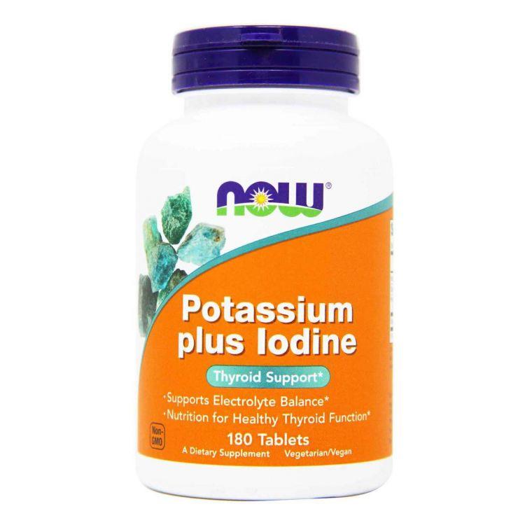 Potassium Plus Iodine от NOW 180 таб