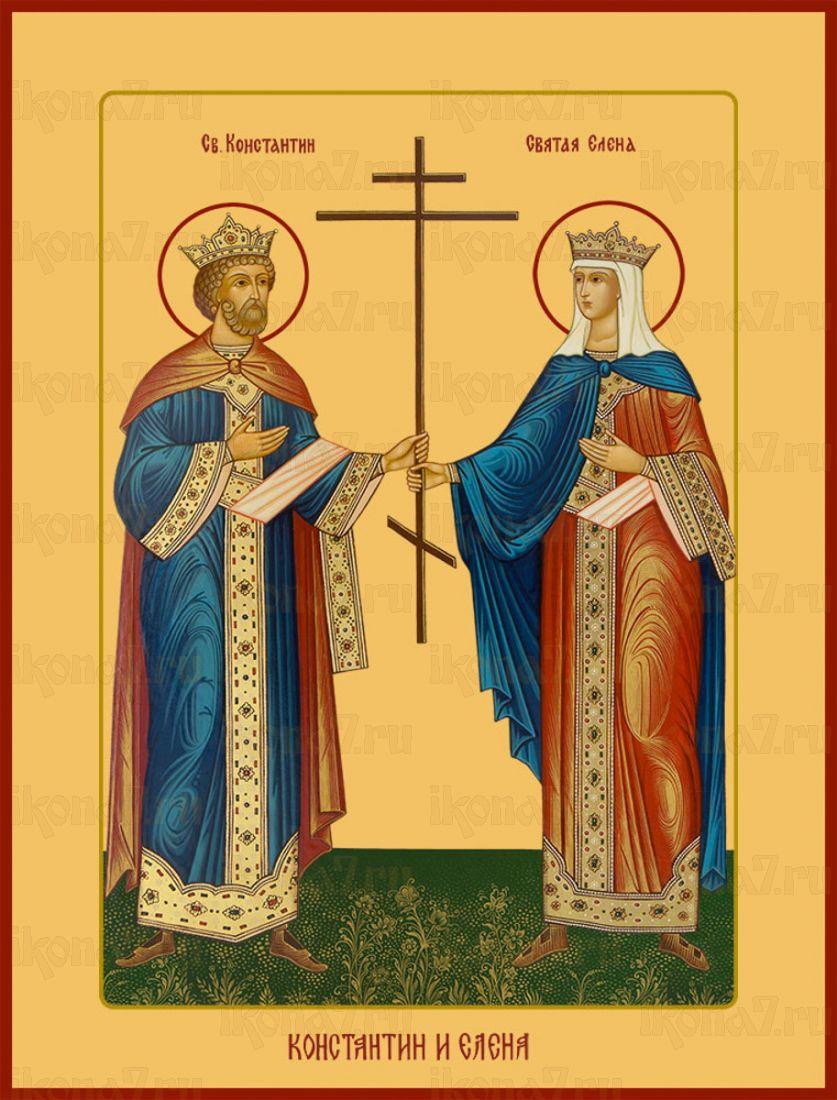 Икона Константин и Елена равноапостольные