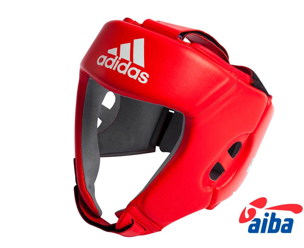 Шлем боксерский Adidas AIBA красный, размер L, артикул  AIBAH1