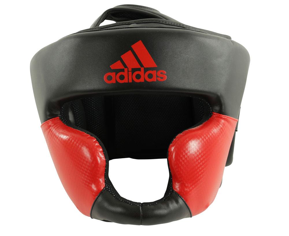 Шлем боксерский Adidas Response Standard Head Guard черно-красный, размер L, артикул  adiBHG023