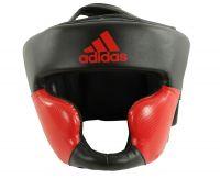 Шлем боксерский Adidas Response Standard Head Guard черно-красный, размер M, артикул  adiBHG023