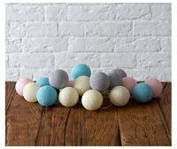 Гирлянда Пастель 2 (20 шариков, на батарейках)