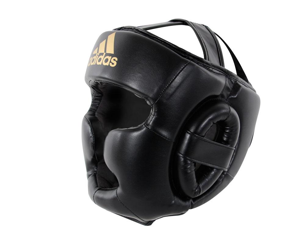 Шлем боксерский Adidas Speed Super Pro Training Extra Protect черно-золотой, размер S, артикул  adiSBHG041