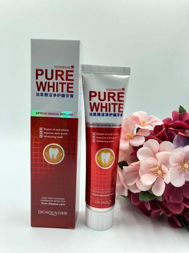 Отбеливающая зубная паста Pure White 120 гр. (Клюквенная)