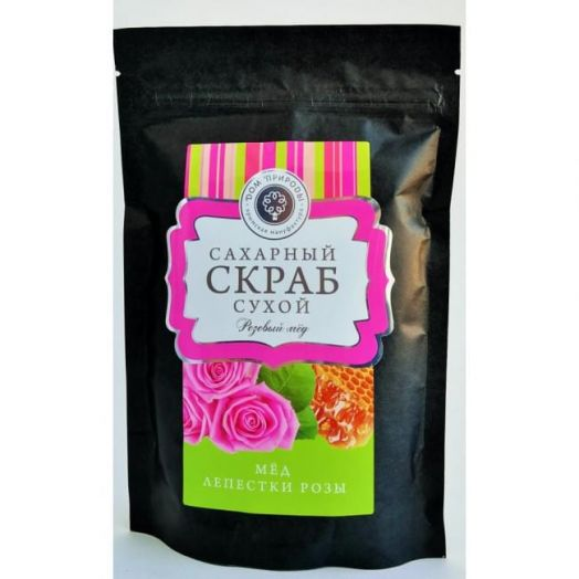 Сухой сахарный скраб Розовый мед Дом Природы 250 гр