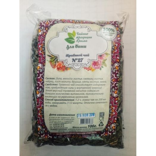 Травяной чай для бани No27 Крымские Традиции 100 гр