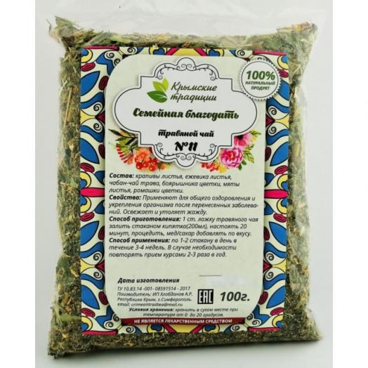 Травяной Чай No11 Семейная благодать 100 гр