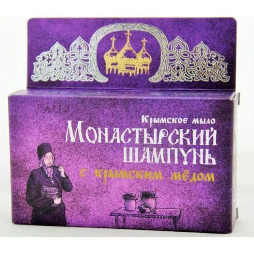 Твердый шампунь с крымским медом Монастырский шампунь Формула Здоровья 80 гр