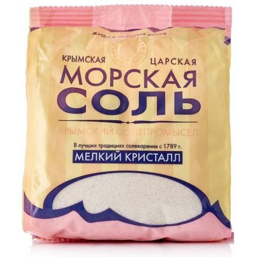 Пищевая морская соль Мелкий Кристалл Крымская Царская Соль 500 гр