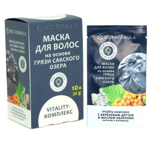 Маска для волос Виталити - комплекс Мед Формула Дом Природы 30 гр 1 саше-пакет