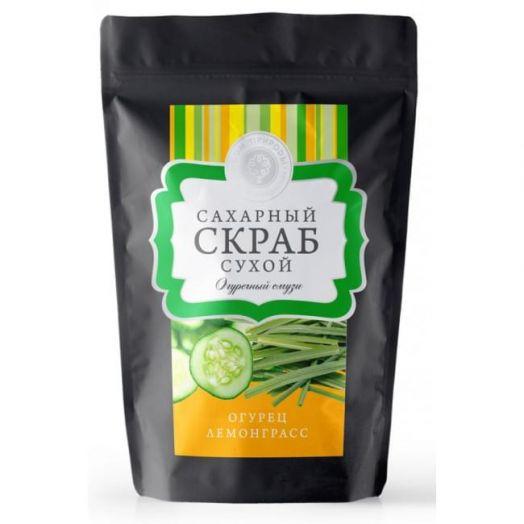 Сухой сахарный скраб Огуречный смузи Дом Природы 250 гр