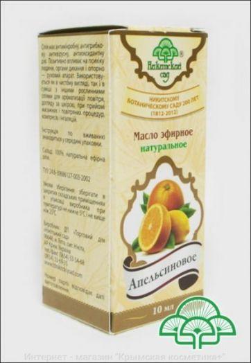 Масло эфирное натуральное Апельсиновое Никитский Сад 10 мл
