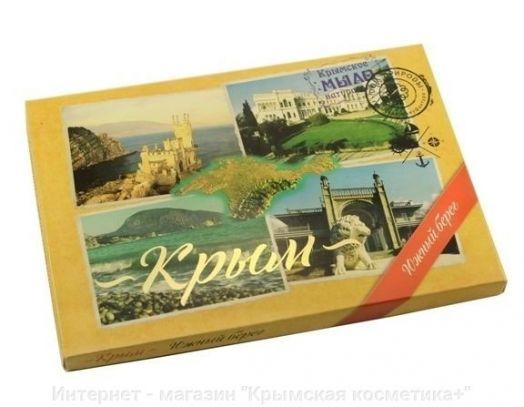 Сувенирный набор натурального мыла Южный берег Крыма коллаж 200 гр