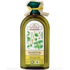 Шампунь против перхоти березовые почки и касторовое масло Зеленая Аптека 350 мл