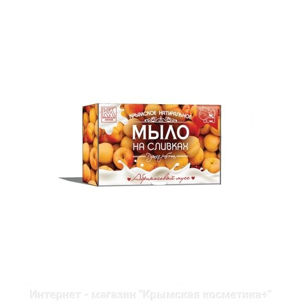 Крымское натуральное мыло Абрикосовый Мусс Крымская Линия 82 гр
