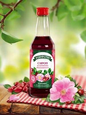 Сироп из шиповника с лепестками роз Конфитю Царство Ароматов 250 мл