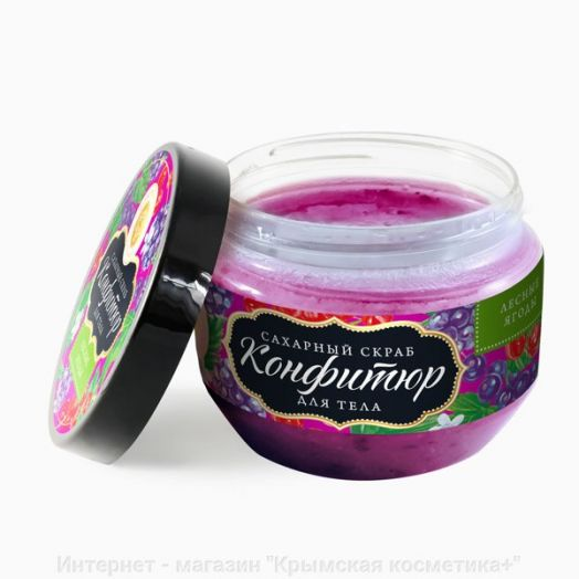 Сахарный скраб-конфитюр для тела Лесные ягоды Дом Природы 250 гр