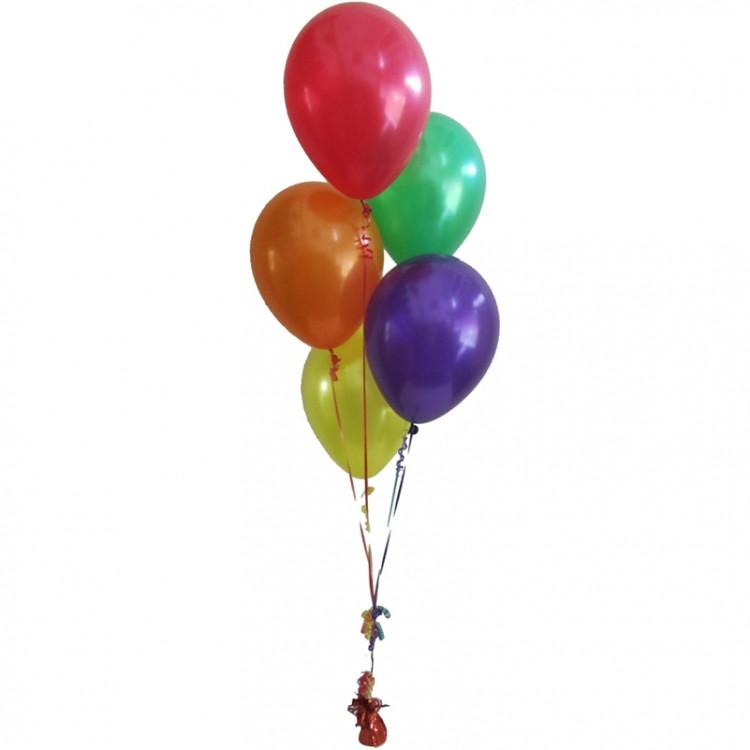 5 гелиевых шаров микс