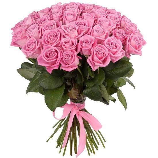 Букет из розовых российских роз от 19 шт