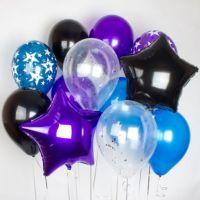 Гелиевые шары набор с 2 звездами
