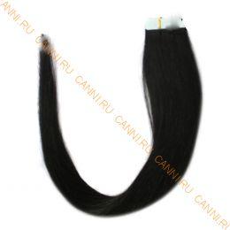 Натуральные волосы на липучках №001B (45 см)