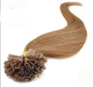 Натуральные волосы на кератиновой капсуле U-тип, №012 - 40 см, 100 капсул.