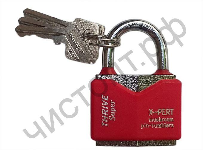 Замок навесной X-PERT цветной 60mm, 3 ключа в комплекте, TNP-366