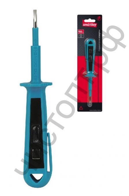 Индикаторная отвертка, 150 мм, до 500 В, шлицевая, протокол, испытания, Smartbuy Tools SBT-SCT-T150P2
