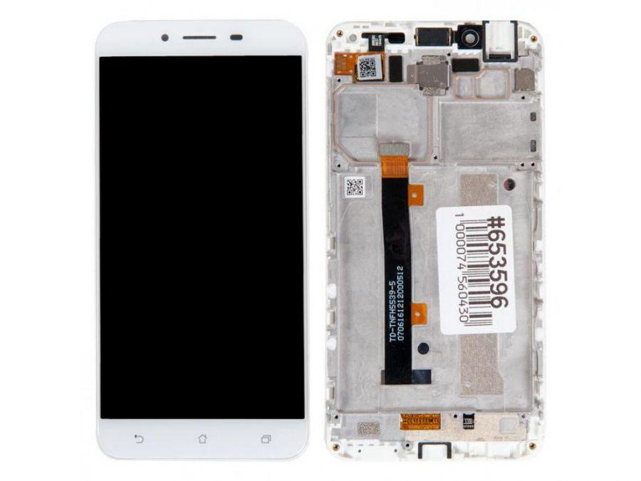 LCD (Дисплей) Asus ZC553KL ZenFone 3 Max (в сборе с тачскрином) (в раме) (white) Оригинал
