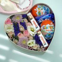 Сердце со сладостями