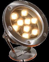 Подводный led светильник, теплый белый, 6W или 12W, IP68