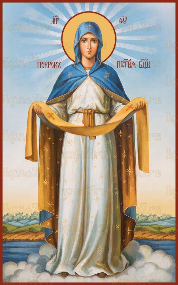 Мерная икона Покров Пресвятой Богородицы (25x50см)
