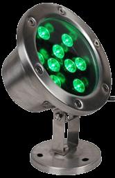 Подводный Светодиодный Светильник Зеленый 6W/12W, IP68