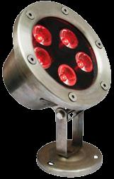 Красный Подводный LED Светильник 6W/12W, IP68