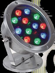 RGB Цветной Подводный LED Светильник 6W/12W, IP68