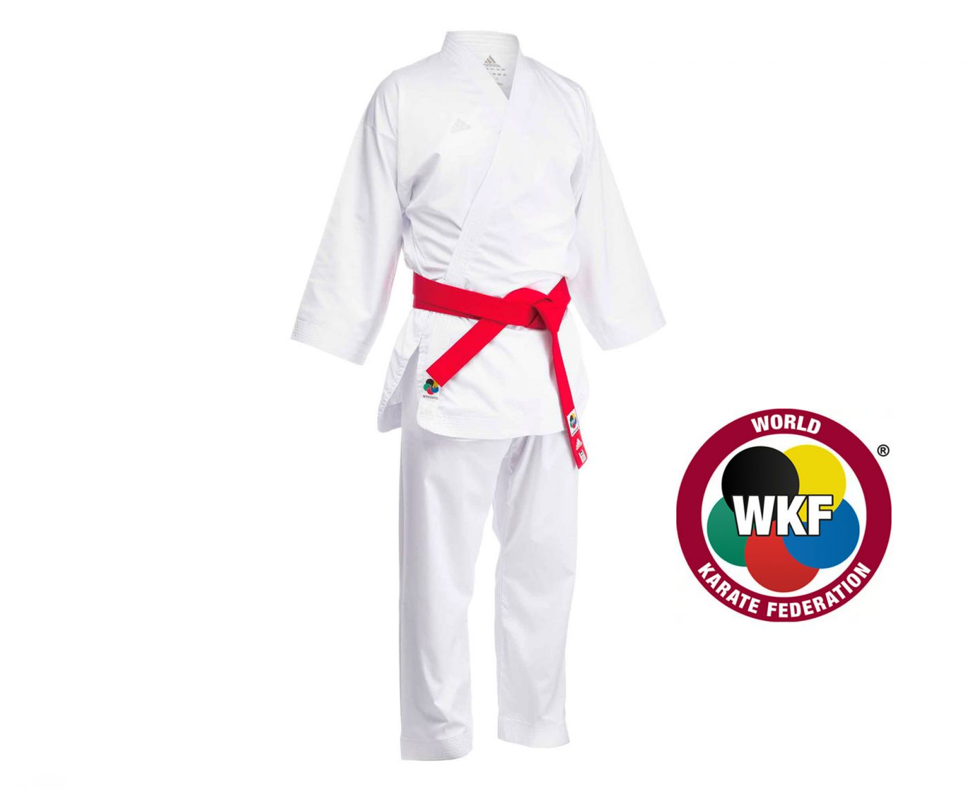 Кимоно для карате Adidas Adizero WKF белое, размер 180 см, артикул K0