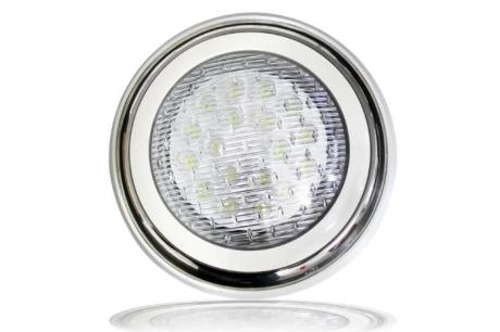Накладной подводный LED светильник, белый 18W, 12V, IP68