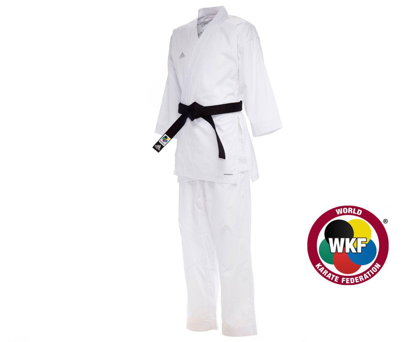 Кимоно для карате Adidas Kumite Fighter WKF белое, размер 185 см, артикул K220KF