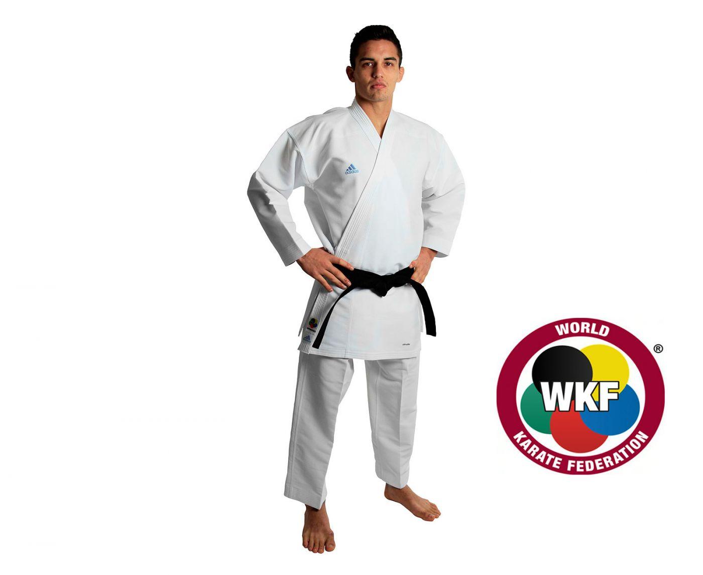 Кимоно для карате Adidas Revo Flex Karate Gi WKF белое, размер 200 см, артикул K190SK