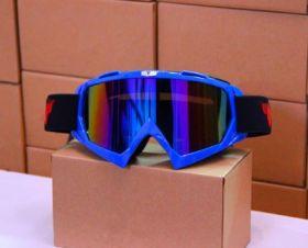 Мотоочки маска горнолыжная затемненный визор TANKED, акрил, пластик, цвет оправы - синий