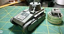"""Сборная модель танка из бумаги """"Leichttraktor"""" масштаб 1:35"""