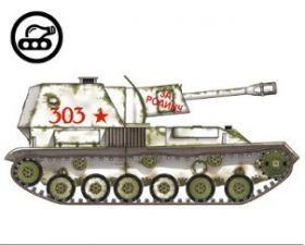 Сборная модель танка из бумаги Советский Су-76 масштаб 1:35