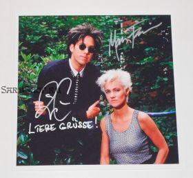 Автографы: Roxette. Пер Гессле, Мари Фредрикссон. Оригинал. Редкость