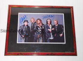 Автографы: Aerosmith. Стивен Тайлер, Джо Перри, Том Хэмилтон, Джоуи Крамер, Брэд Уитфорд